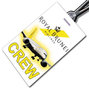 Royal Brunei Boeing 787 crew tag